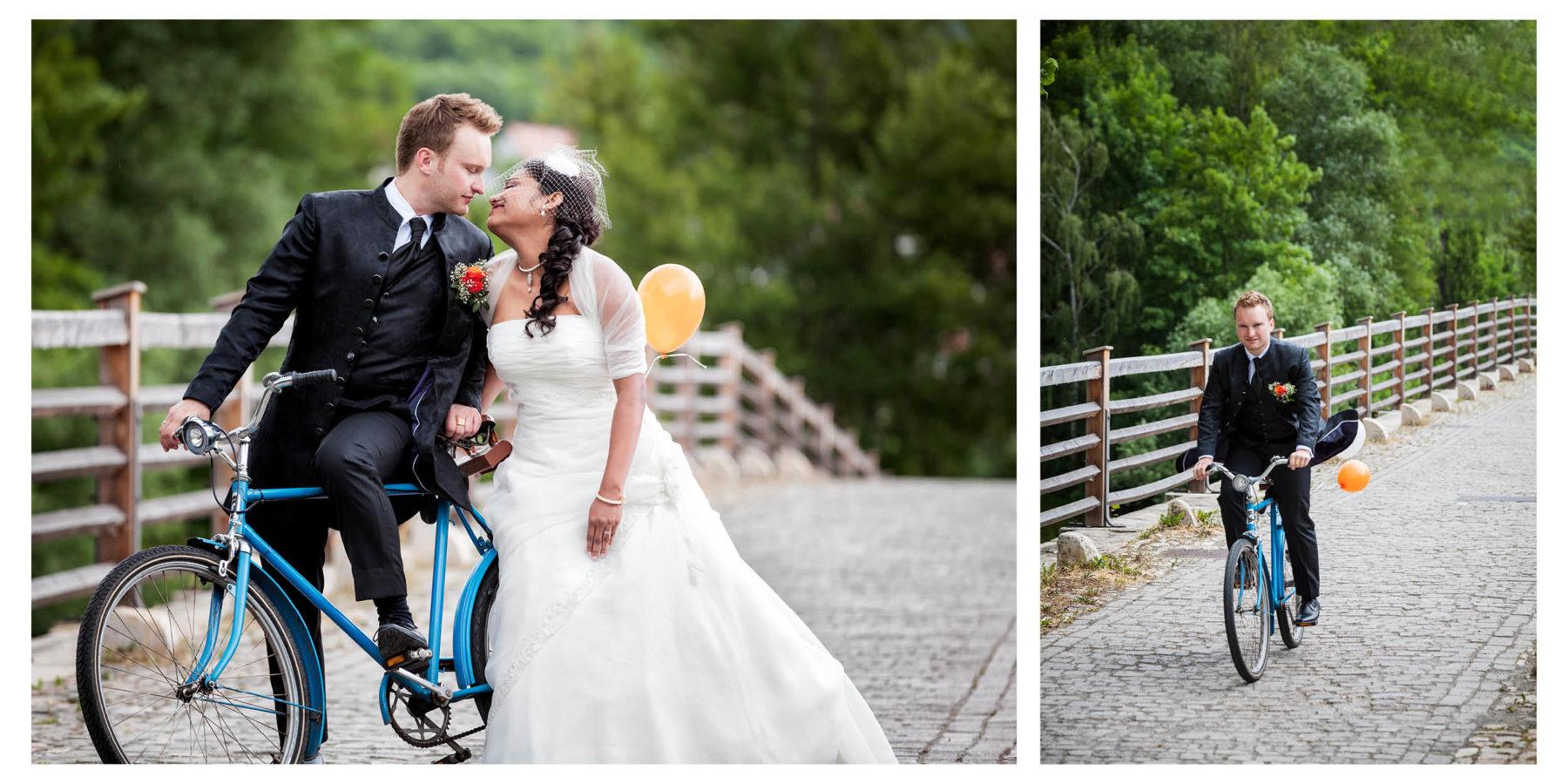 Astounding Lustige Hochzeitsbilder Photo Of Brautpaar Und Fahrrad
